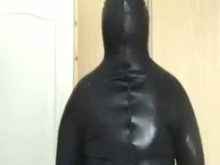 Jane_E plastic bag hood bondage hreat hot
